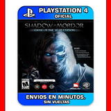 Shadow Of Mordor Ps4 Middle Earth Game Of The Year Edition