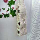 Porta Papel Higiênico Crochê Algodão Natural Barbante 8