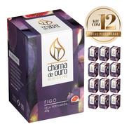 12 Velas Perfumadas Aromáticas Aroma De Figo 60g