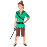 Fantasia Peter Pan Caçador Infantil Curta Completa