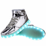 Zapatillas Con Luces Led 7 Colores Unisex Talles 35 Al 43