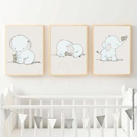 Láminas Imprimibles Infantiles Coleccion Elefantes Bebe