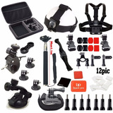 Black Pro Basic Common Outdoor Sports 31-in-1 Kit For Gopro