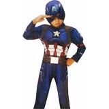 Disfraz Capitan America Deluxe Con Musculos Importado Marvel