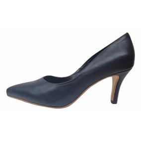 Natacha Zapato Mujer Stiletto En Punta Cuero Negro #773