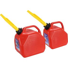 Galao Transporte Combustivel Kit Um De 10 Lt E Um De 5 Lt