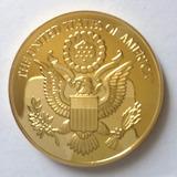 Moneda Medalla Souvenir Alusiva American Eagle Banada En Oro