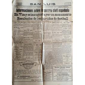 Diario De San Luis (ejemplar Nº 4809 - 27 De Julio De 1936)