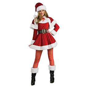 Disfraz Ayudante Santa Claus Mujer Adulto Papa Noel Navidad