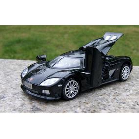 1:32 Escala Diecast Negro Koenigsegg Sport Modelo Coche Luz