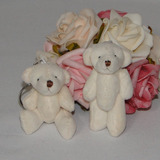 30 Chaveiros Lembrancinhas Mini Ursinhos De Pelúcia - 6cm