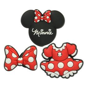 Kit Jibbitz Broche Minnie Mouse Vermelho Original - Crocs