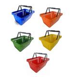 Kit C/ 10 Cestos Plastico De Compras Mercado - Supermercado