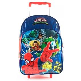 Mochila Spiderman Carrito Original Grande Carro Hombre Araña