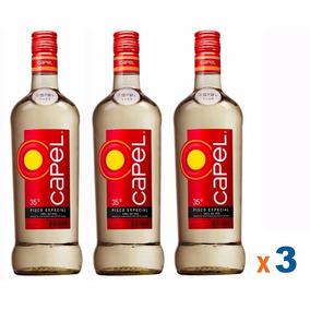 3 Pisco Capel Especial 35º 700ml Original Lacrada