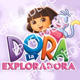 20 Sticker Adhesivos Dora La Exploradora- Calcomanias 5x5