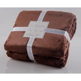 Frazada Soft La Bastilla Extra Gruesa King Size Chocolate