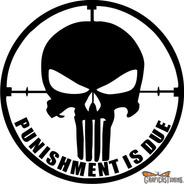 Calcomanía Punisher 07 15  X 15 Cm Graficastuning