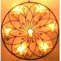 Mandala Flor Lotus 70 Cm Decoração Em Metal Arandela