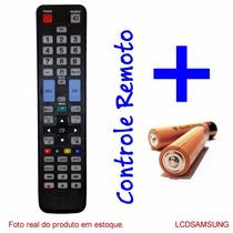 Controle Remoto Tv Lcd Plasma Samsung * Novo * Pilhas Grátis