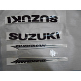 Jogo De Adesivos P/ Suzuki Burgman 125 Moto Prata Ate 2009