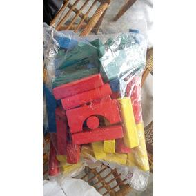Lote Brinquedos De Madeira Construção