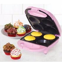 Mini Cupcake Maker 4 Cupkakes Rosa Nostalgia
