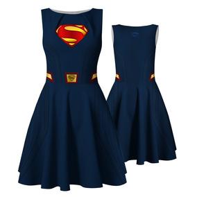 Vestido Super Homem Supergirl Superman Fantasia Liga Justiça