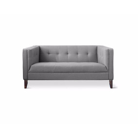 Loveseat Sillon 2 Plazas Moderno Tapizado Tela By Promobel