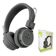 Headphone Fone Com Microfone Bluetooth Sem Fio Cinza Potente