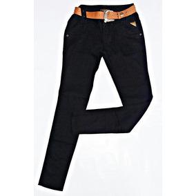 Calça Jeans Feminina Oppnus Skinny Slim Fit Preta Tradiciona