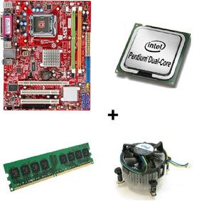 Kit Placa Mãe 775 Ddr2 Msi G31m3+dual Core+memória!promoção!