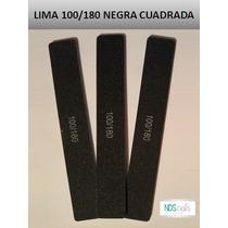 Lima 100/180 Cuadra Negra Para Uñas