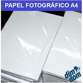 Papel Fotográfico Glossy A4 180g À Prova D´água 100 Folhas