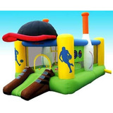 Castillo Inflable 3x2 De Beisbol Con Motor Y Bolso
