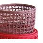 Canastos Redondos Colores Fibra De Papel 30x20 Mimbre Rattan