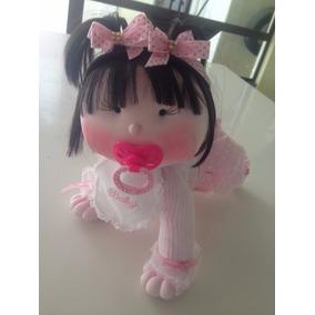 Boneca Pano Artesanal Malu - Bebê Engatinhando