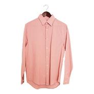 Camisa Perry Ellis Custom Fit Roja Rayada