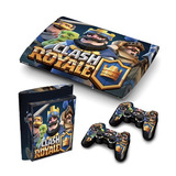 Skins Ps3 Super Slim Clash Royale (221) Consola+ 2 Controles