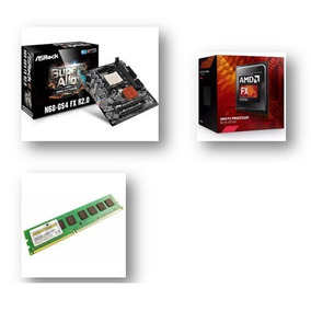 Kit Placa Mãe Asrock N68 + Processador Amd Fx8300 + 8gb Ddr3