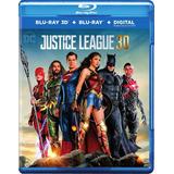 Justice League Blu-ray 3d + Blu-ray Nuevo Importado