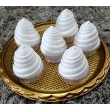 Potes Decorativos Para Doces Festa Formato De Sorvete Branco