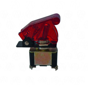 Switch Interruptor Tipo Avion 12v Color Rojo 4