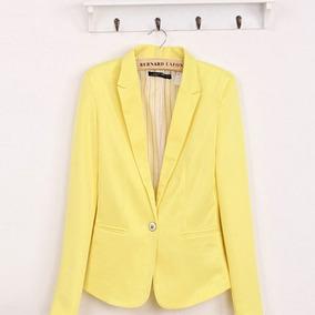 Blazer mujer amarillo