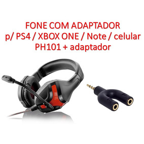 Fone Ouvido Warrior Gamer Ph101 + Adapt Ps4/xbox One
