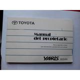 Manual Del Propietario - Toyota Yaris - Buen Estado- 2007