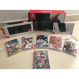 Nintendo Switch Joy-con Gris (7 Juegos,mem Sd , Case Y Mica)