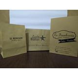 Bolsas Delivery Impresas Con Logo / Kraft 120 Grs.