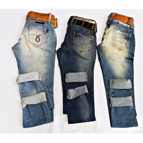 Kit Com 03 Calças Jeans Femininas Oppnus Original