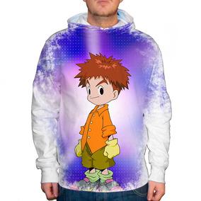 Blusão Digimon Izzy Unissex Com Capuz